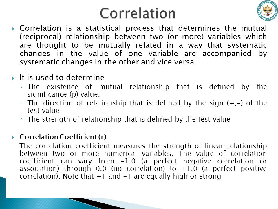 statistical test to determine relationship between two variables