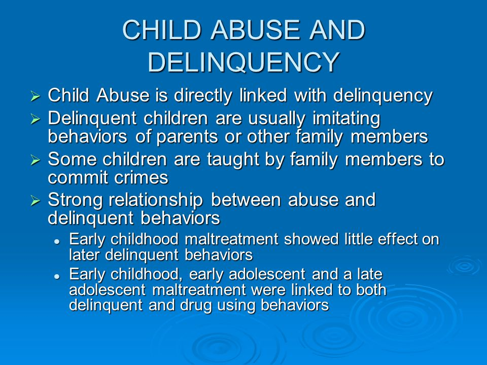 deliquent child The federal adam walsh child protection and safety act was signed into law by  president bush on july 27, 2006  what is a sexually violent delinquent child.