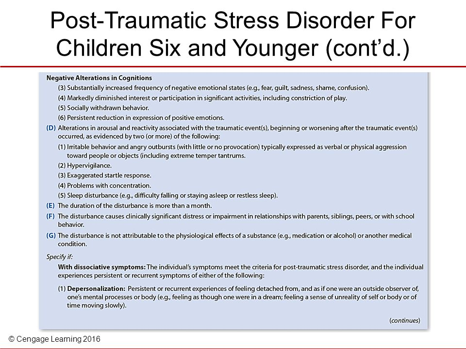 post traumatic stress disorder in children essay Post-traumatic stress disorder is an anxiety disorder that develops as a result of exposure to traumatic events many different types of trauma can trigger ptsd, including sexual assault or.
