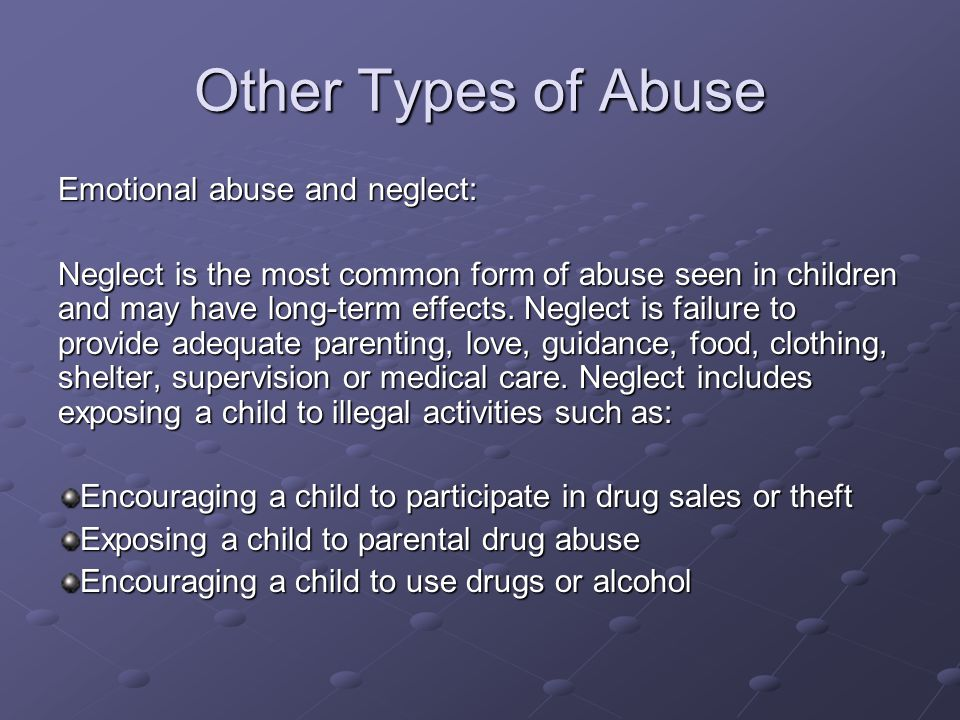 recognition of types of abuse and neglect Treating different types of child abuse as a general  abuse and neglect  recognition and differential.