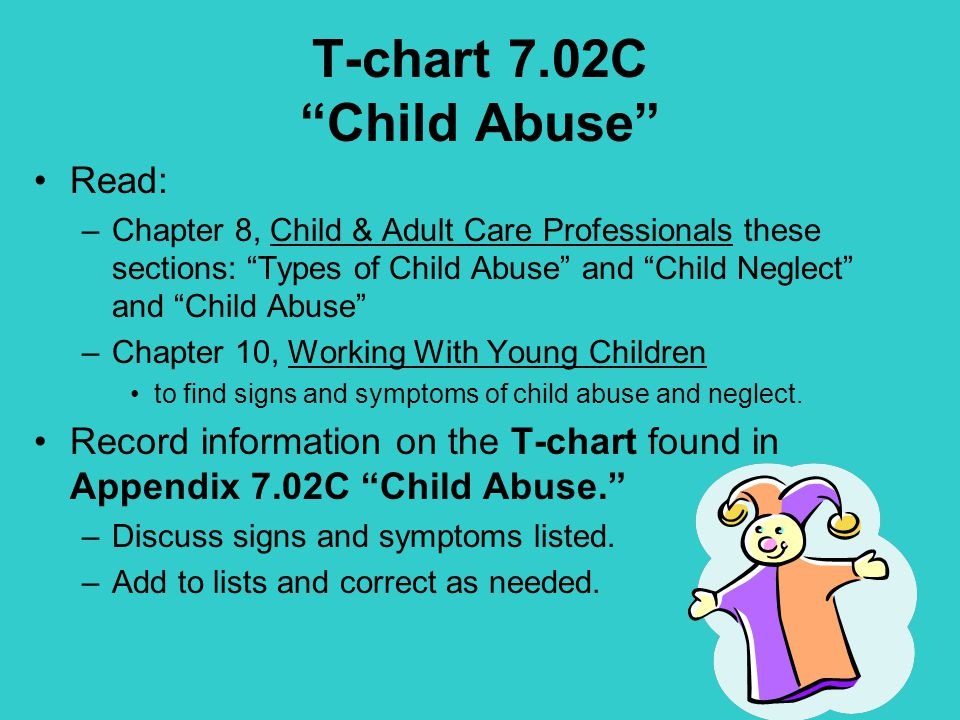 types of the abuse and neglect of children Child abuse and neglect statistics what are the different types of child at least 1,585 children died due to abuse or neglect which translates to 225 deaths.