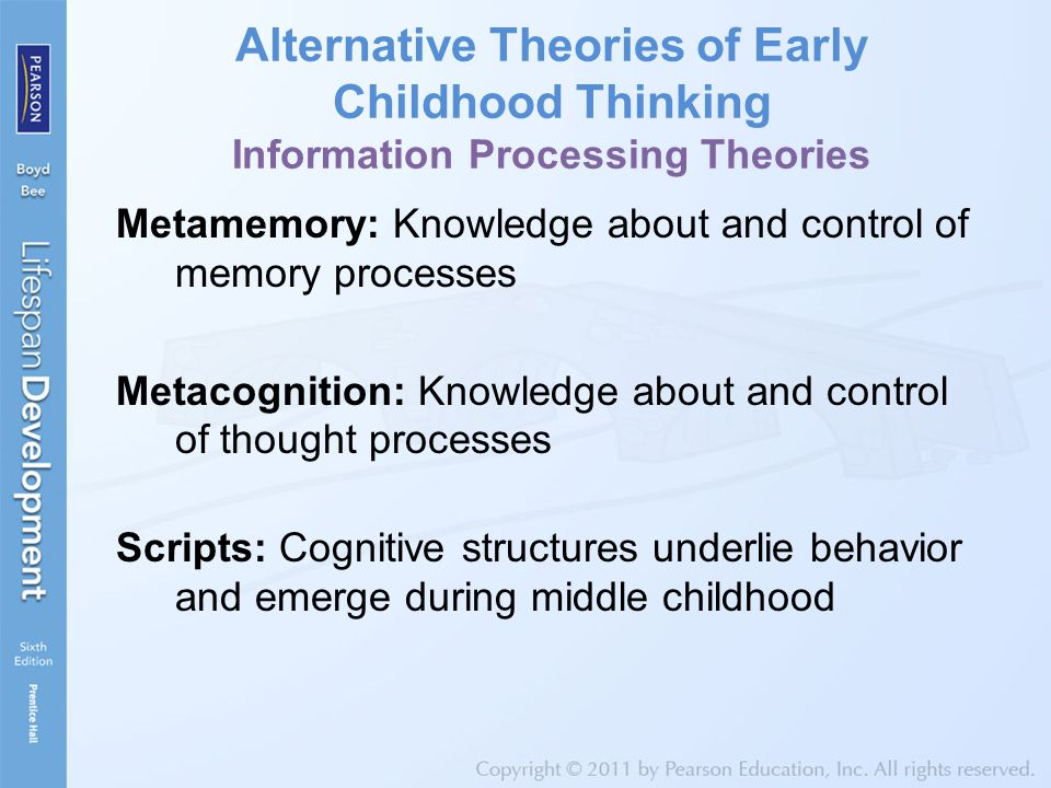 information processing theories in the preschool children Preschool (ages 2-6) cognitive development: cognitive processes information processing theories are theoretical perspectives that focus on the specific ways in which.