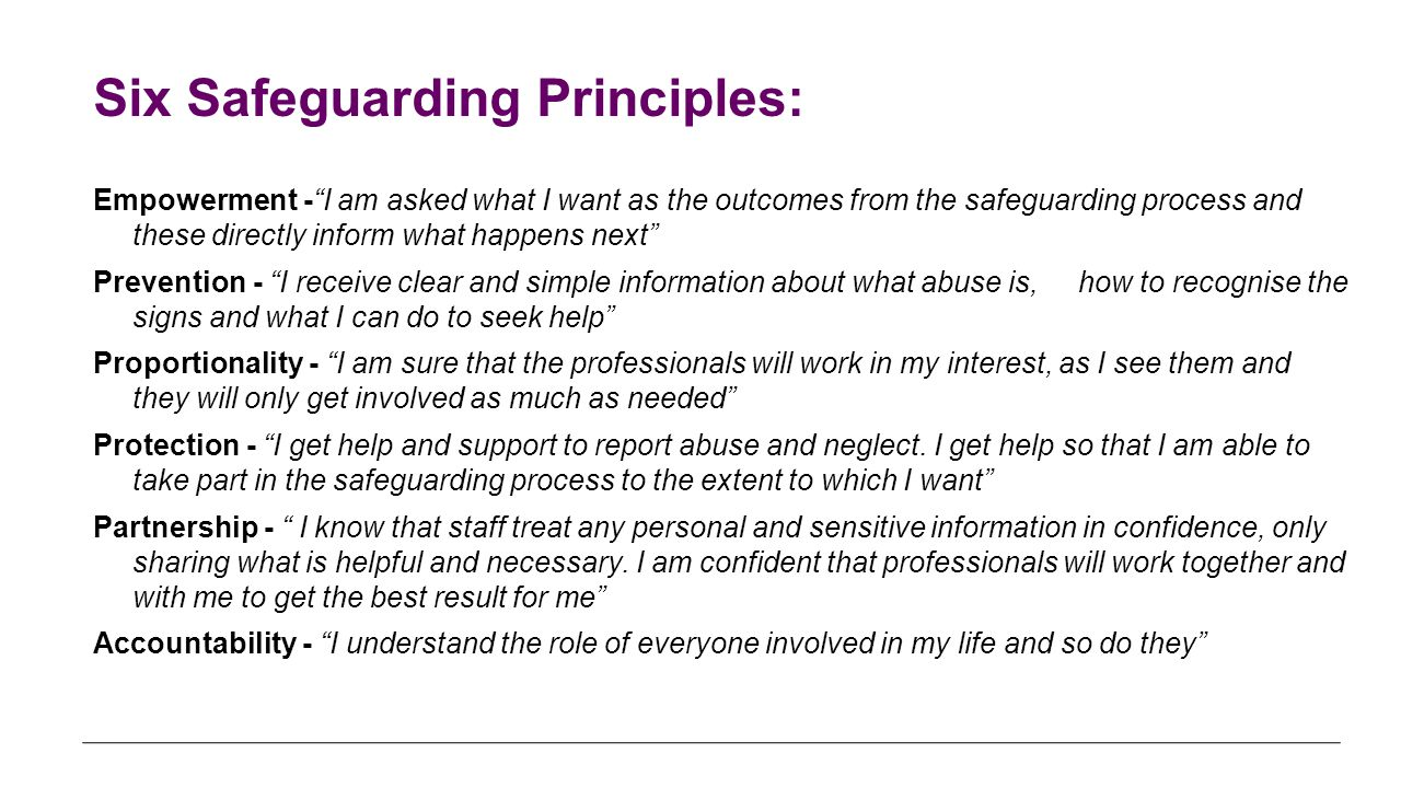 principles of safeguarding and protection 4 essay Safeguarding empowerment protection 4 safeguarding adults principles the foundation trust's work to safeguard adults is built around six 'safeguarding.