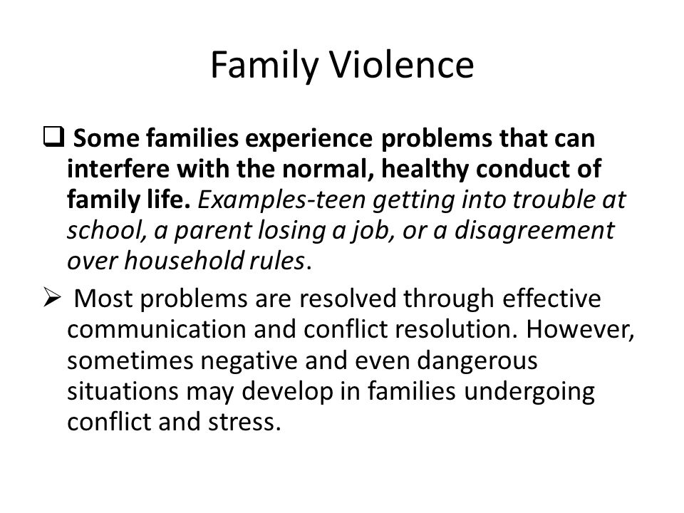 how to detect family violence