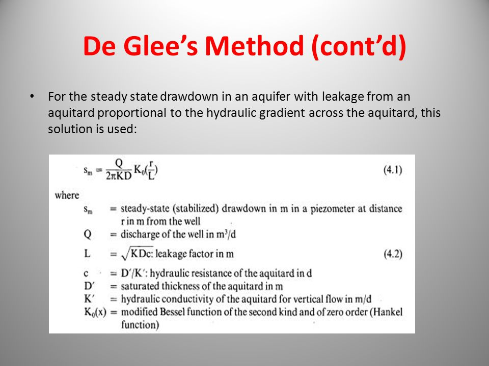 De Glee's Method (cont'd)
