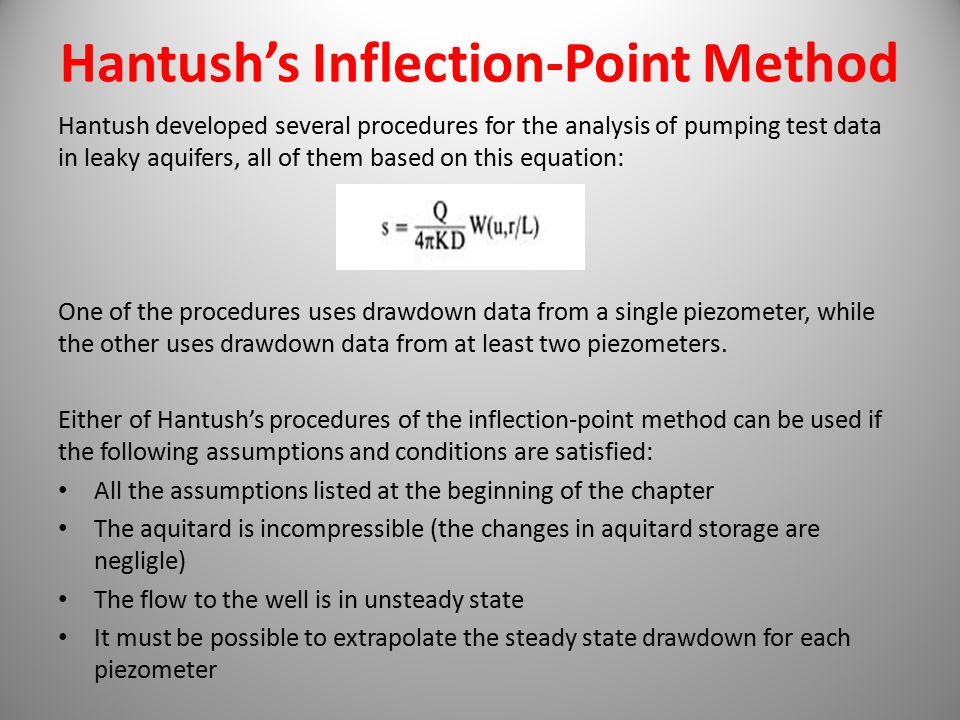 Hantush's Inflection-Point Method