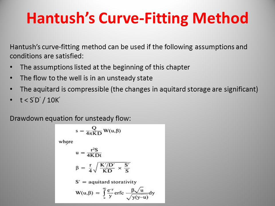 Hantush's Curve-Fitting Method