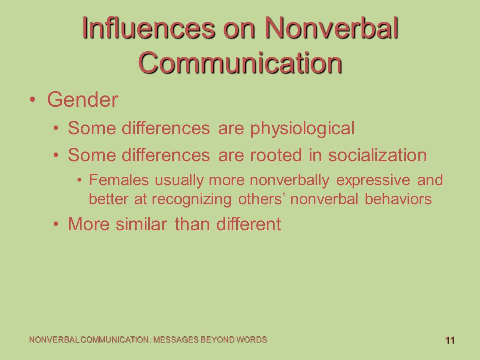 gender differences in nonverbal communication Nonverbal communication differences in at an impasse due to gender communication differences nonverbal communication differences in men.