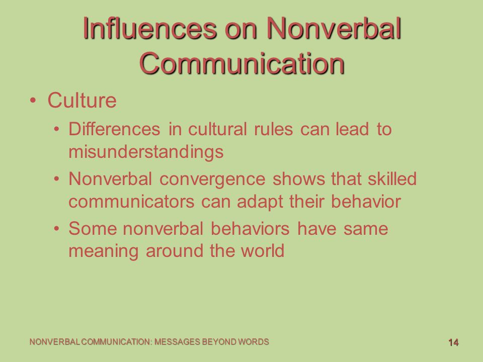 misunderstanding nonverbal communication What are you saying with nonverbal communication what is more, many nonverbal expressions we this can save you a lot of embarrassment and misunderstanding.