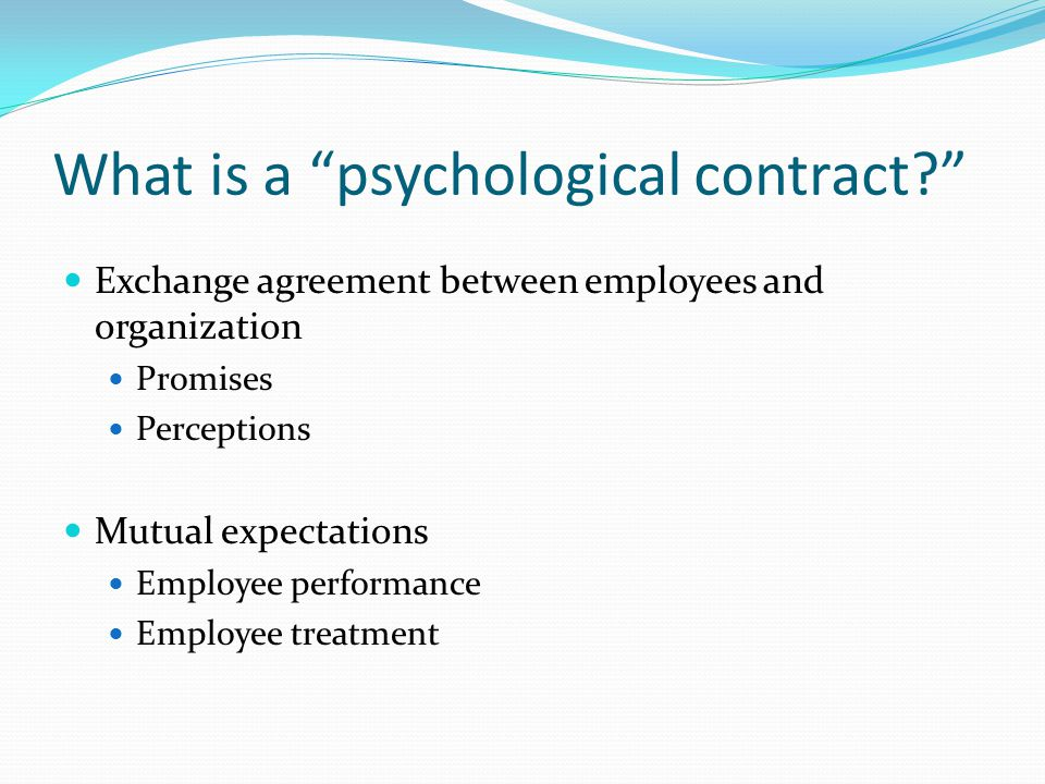 organizational justice and psychological contract essay Impact of organizational justice hence it makes a good contribution to organizational psychology positive job behaviors that are not part of job contract.