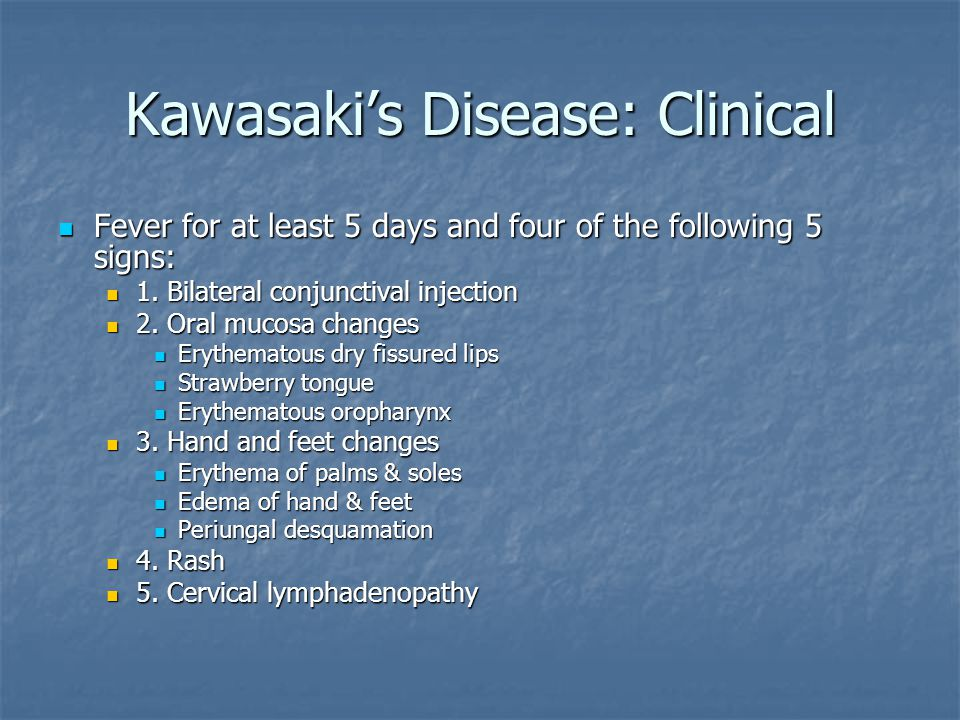 Kawasaki's Disease: Clinical