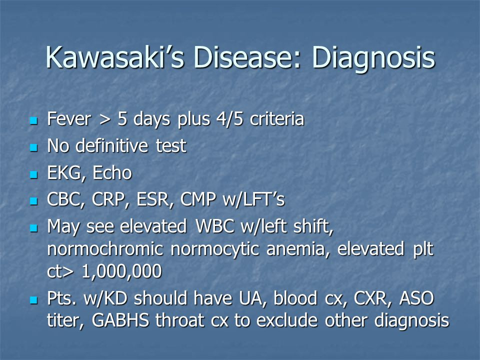 Kawasaki's Disease: Diagnosis