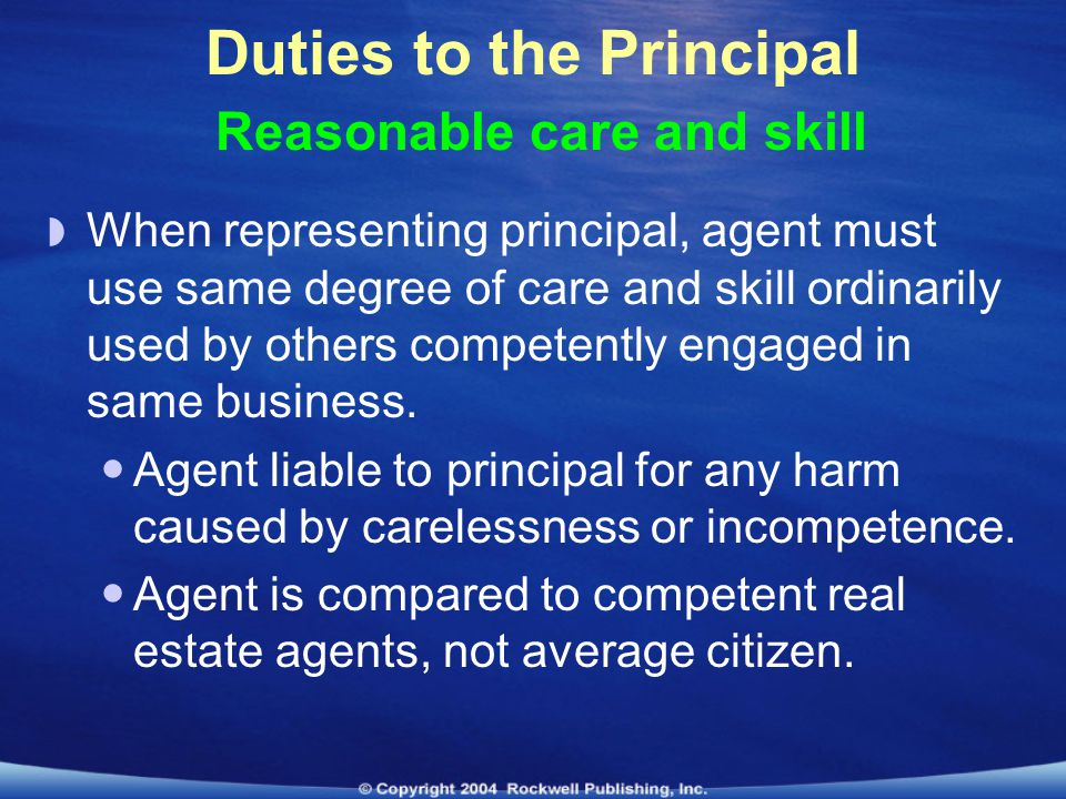 what is the principle agent relationship using