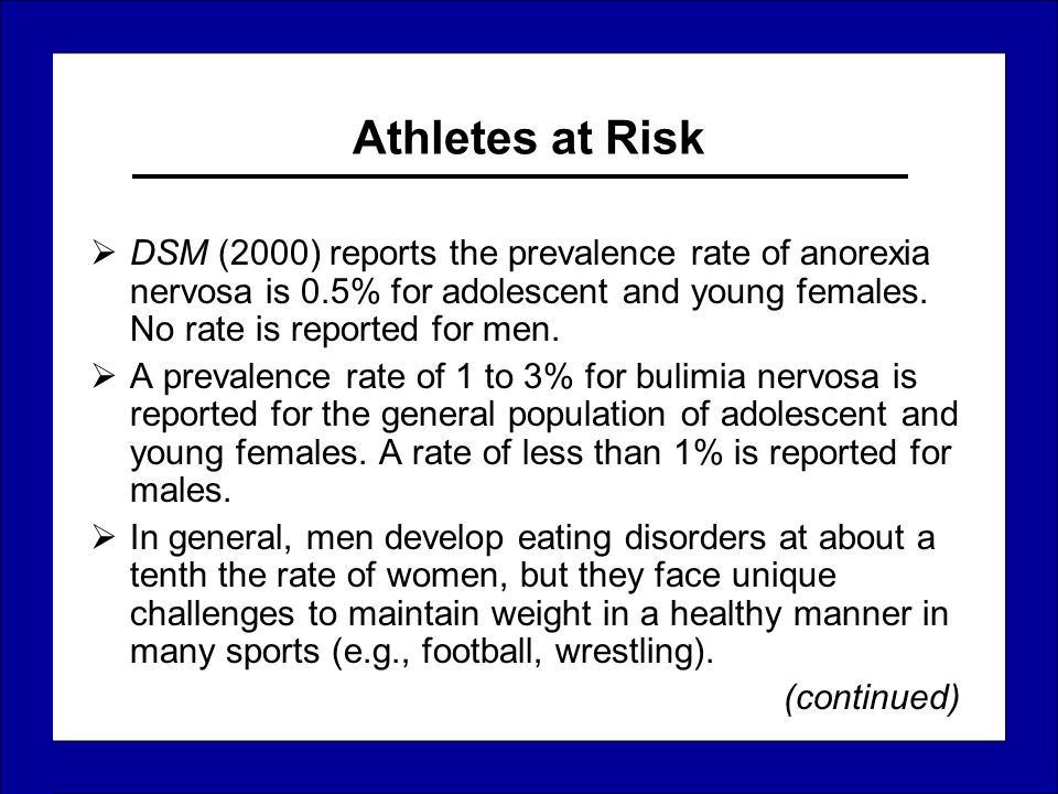 the clinical description of the causes and management of eating disorder anorexia nervosa Anorexia nervosa is an eating disorder characterized anorexia nervosa clinical muscari m effective management of adolescents with anorexia and.