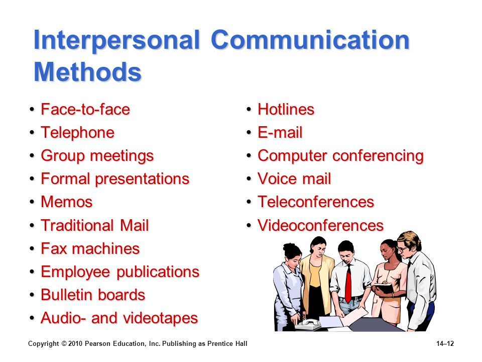 Interpersonal Communication Methods