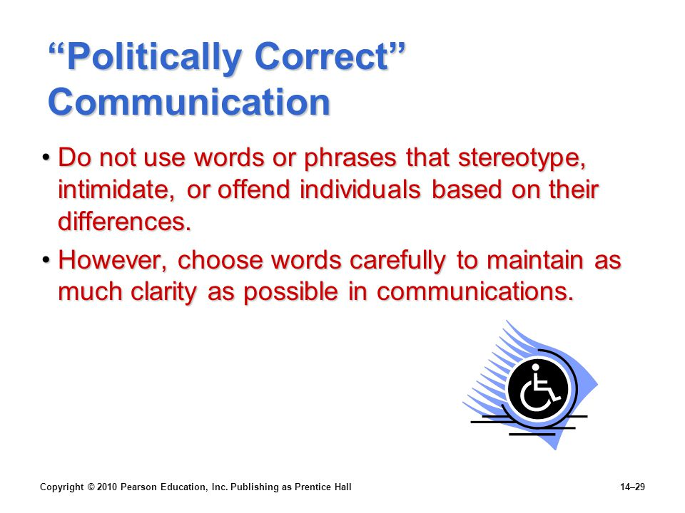 Politically Correct Communication