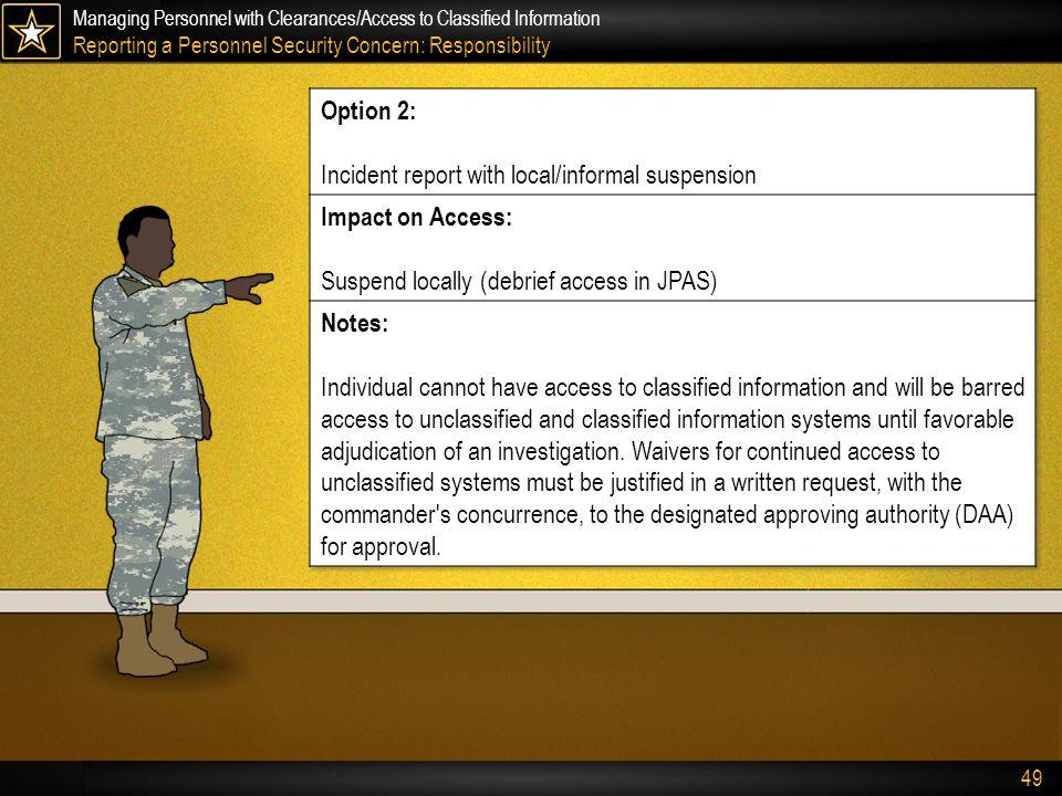Jpas Incident Report Criteria