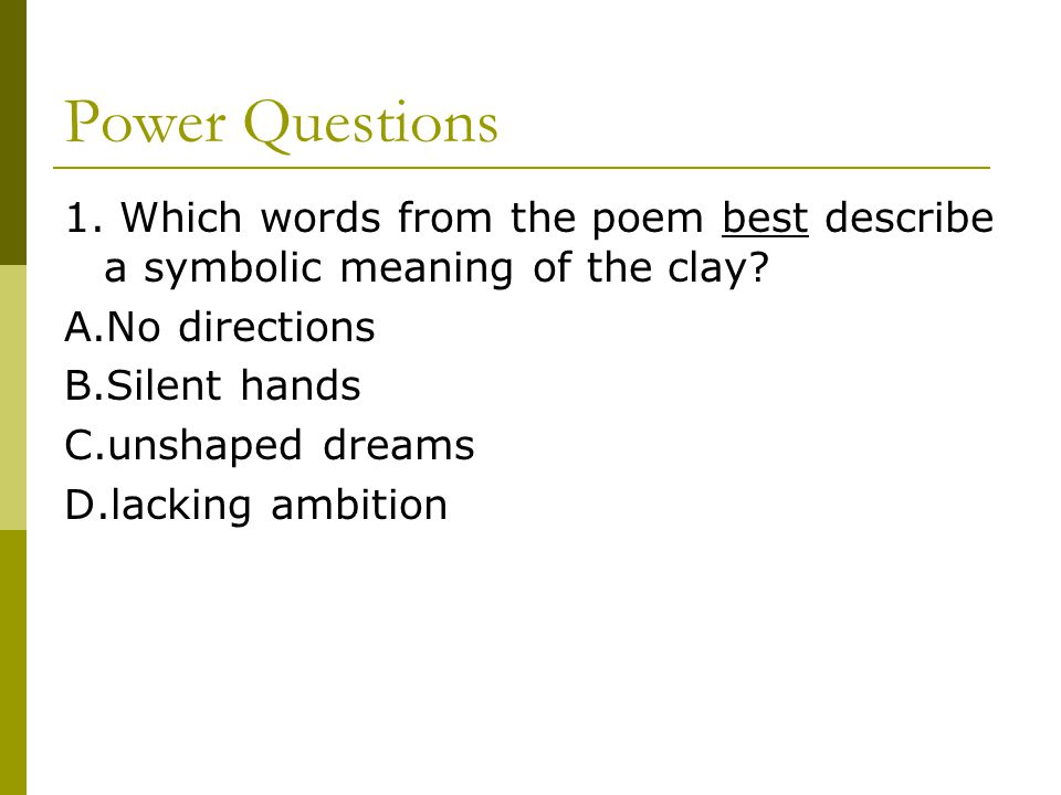 How Does A Reader Interpret Symbolism In Poetry Ppt Download