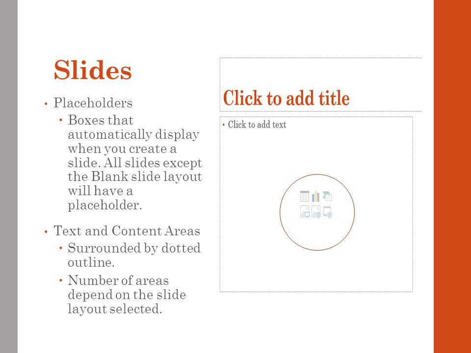 Slides Placeholders.