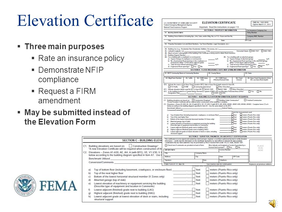 Lowest Floor Elevation Fema Form : Letter of map change fundamentals ppt download