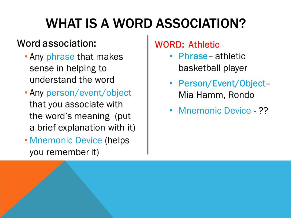 vocab 3 word associations ppt