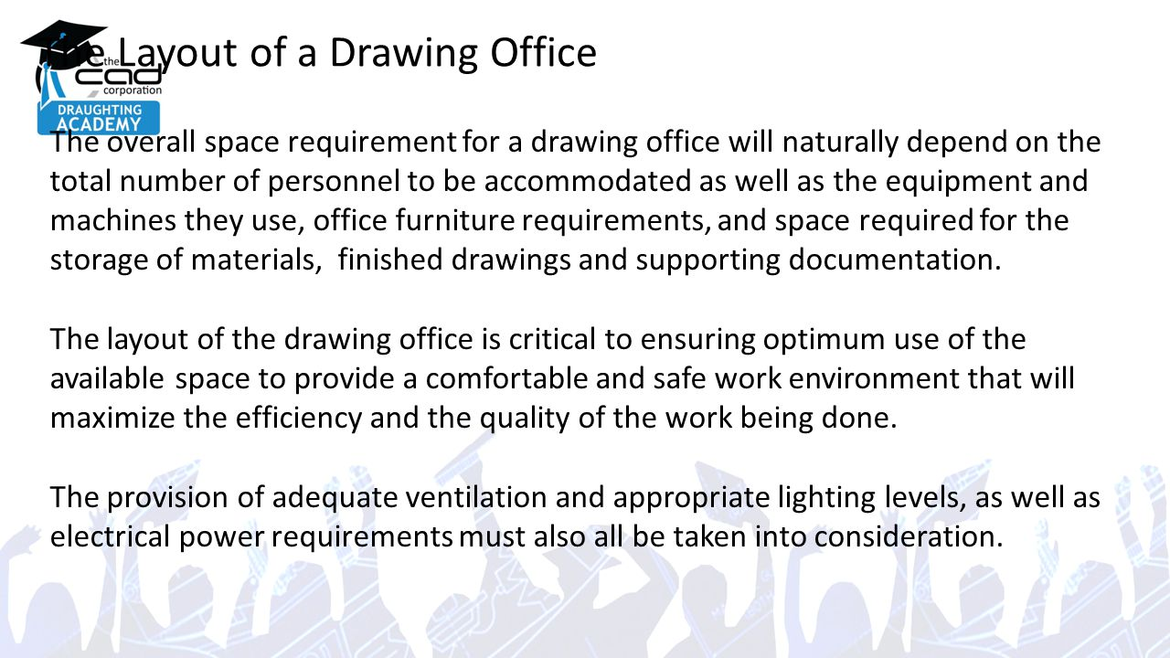 office lighting levels at work. the layout of a drawing office lighting levels at work