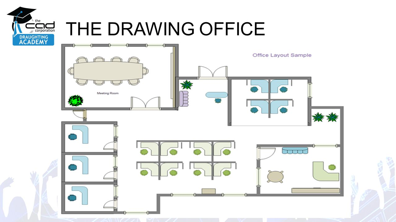 Module 2 office layout ppt video online download Layout drawing online