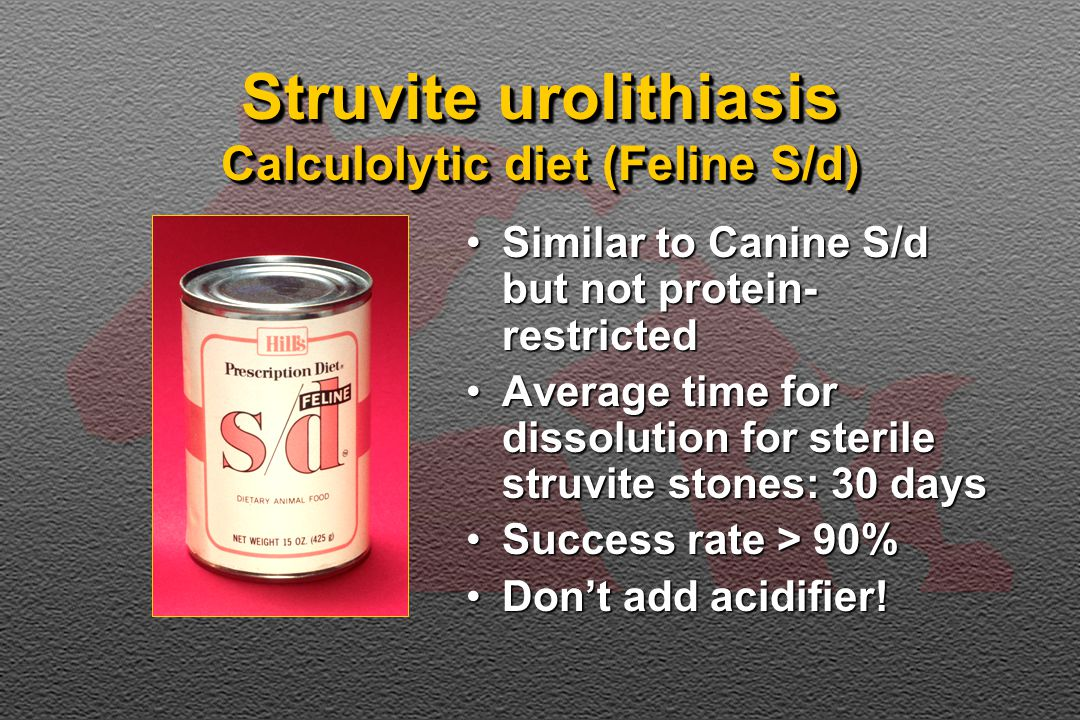 Diet with urolithiasis