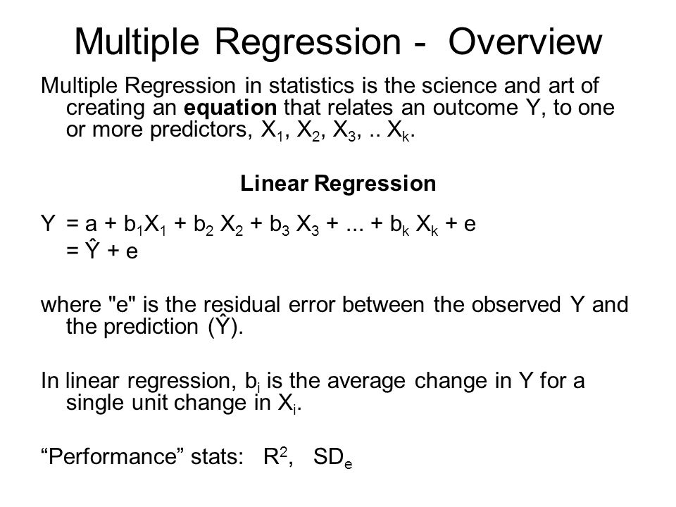 Lesson 1 Simple Linear Regression