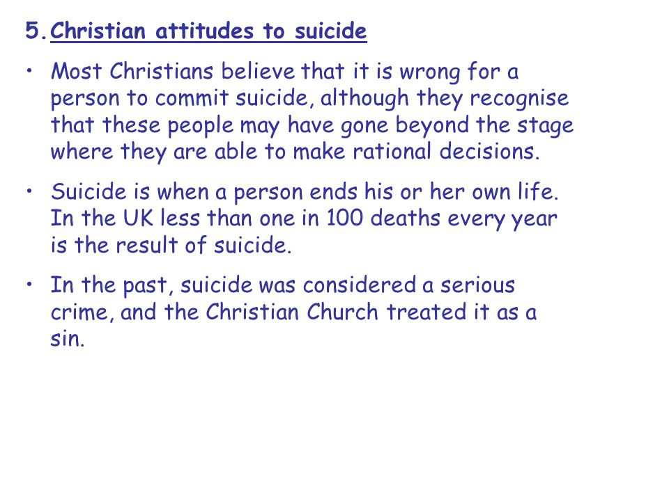 suicide among christians