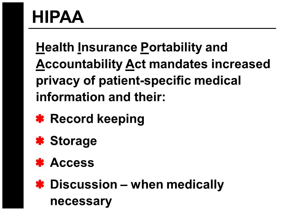 history of health insurance portability and accountability act hipaa essay Hipaa feels healthcare should comply in the areas of clearinghouses and outside contractors, administrative guidelines-sign in sheets patient charts training and software for ins co for hcfa forms showing accountability is possibly the most difficult part of the hipaa security regulation.