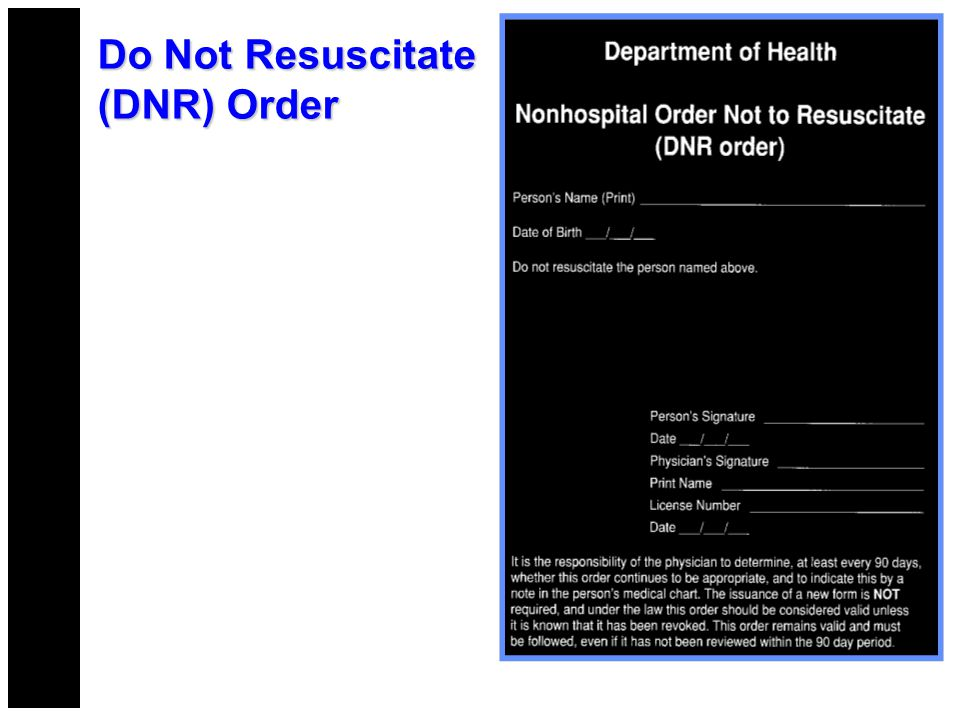 Do Not Resuscitate Form Emergency Medical Services Do Not – Do Not Resuscitate Form