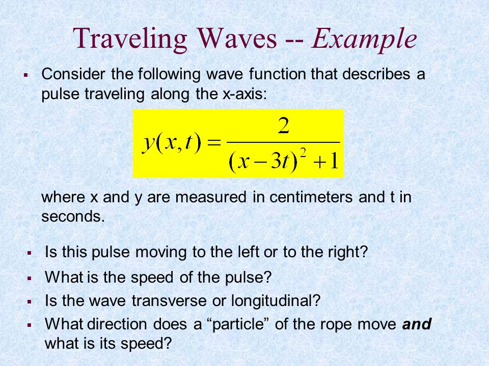 Traveling Waves -- Example