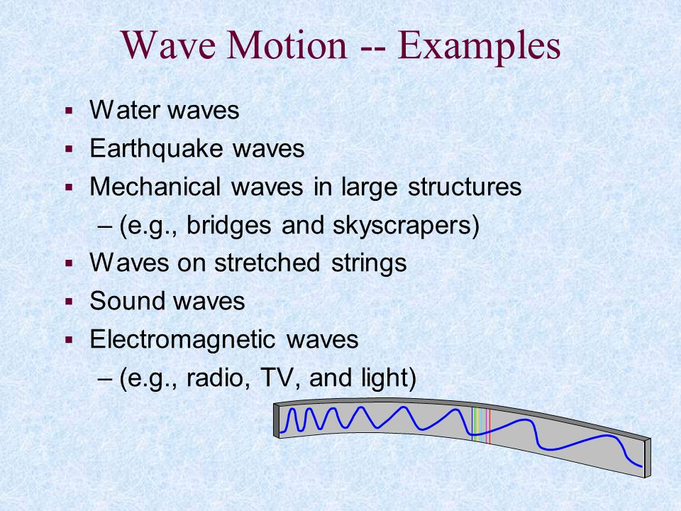 Wave Motion -- Examples