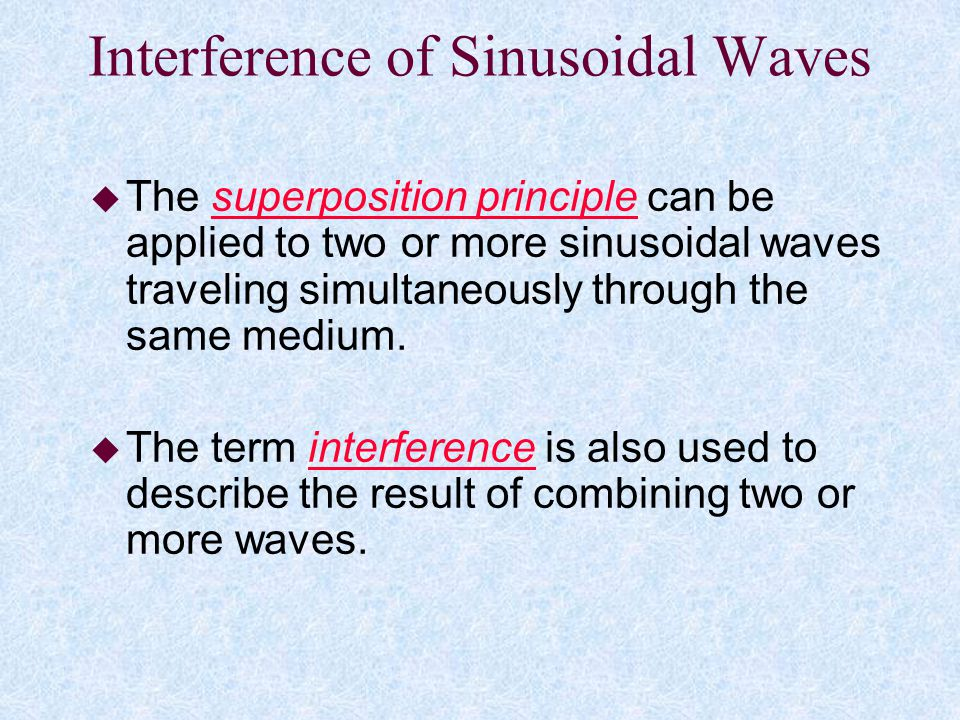Interference of Sinusoidal Waves