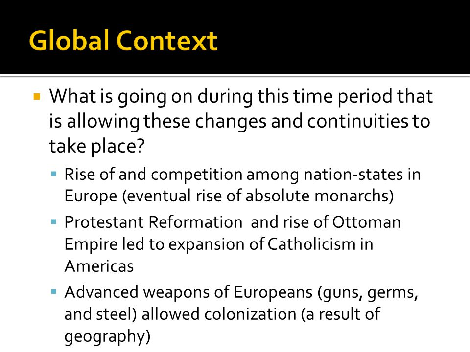 changes and continuities triangular trade Triangular trade change and continuity essay - a-level history  ada rivera mr hamstra ap world history pd 2 january 8th, 2012 triangular trade change and continuity essay over time, civilizations faced many   triangular trade ccot essay triangular trade ccot essay you can also find more resources in our.