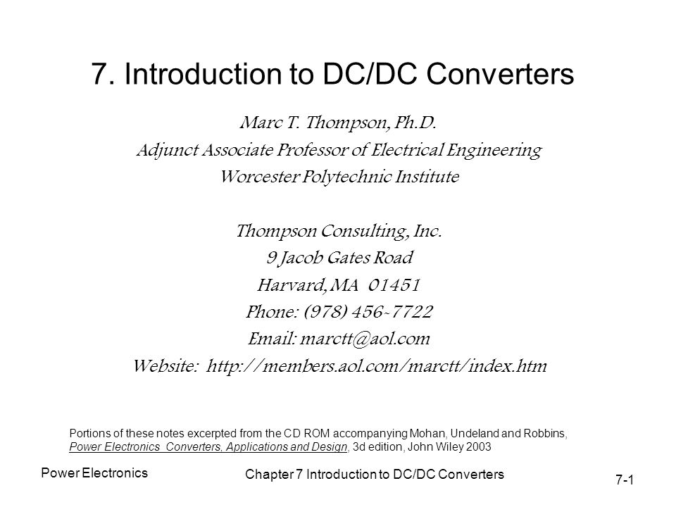 introduction to dc dc converter engineering essay A power inverter is a device that converts dc (direct current) power into ac ( alternating current) power the converted ac can be at any required v.