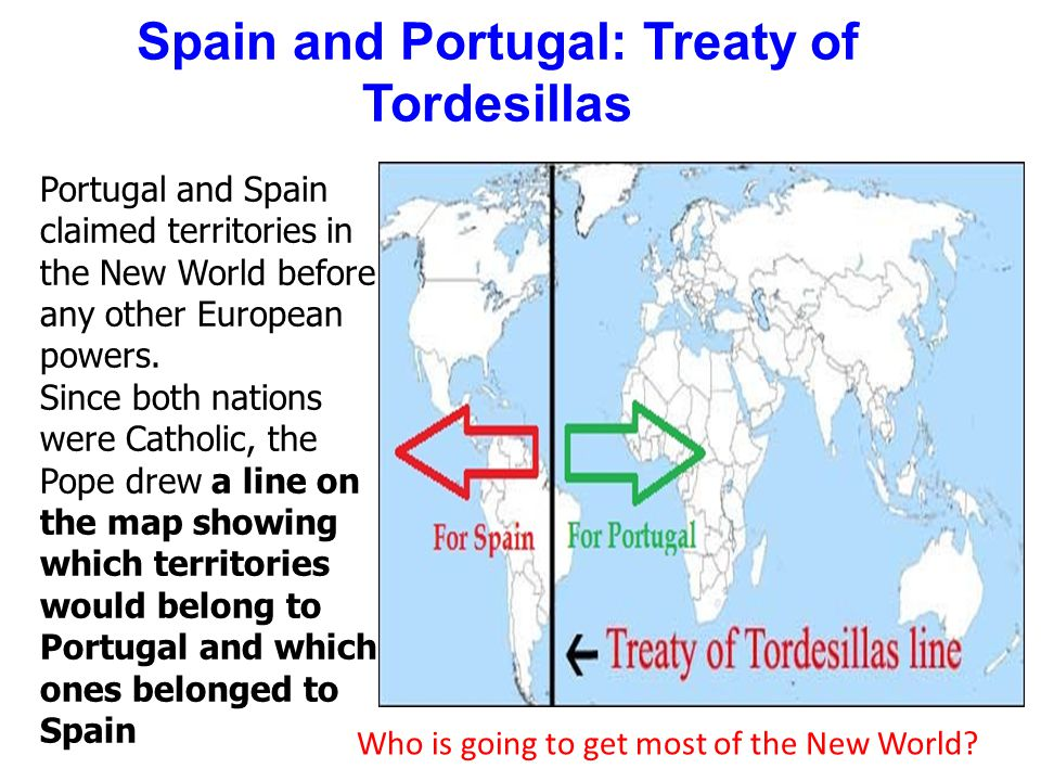 Spain and Portugal: Treaty of Tordesillas