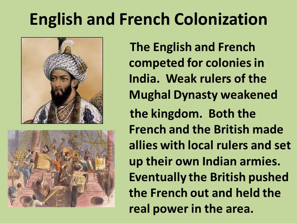 English and French Colonization
