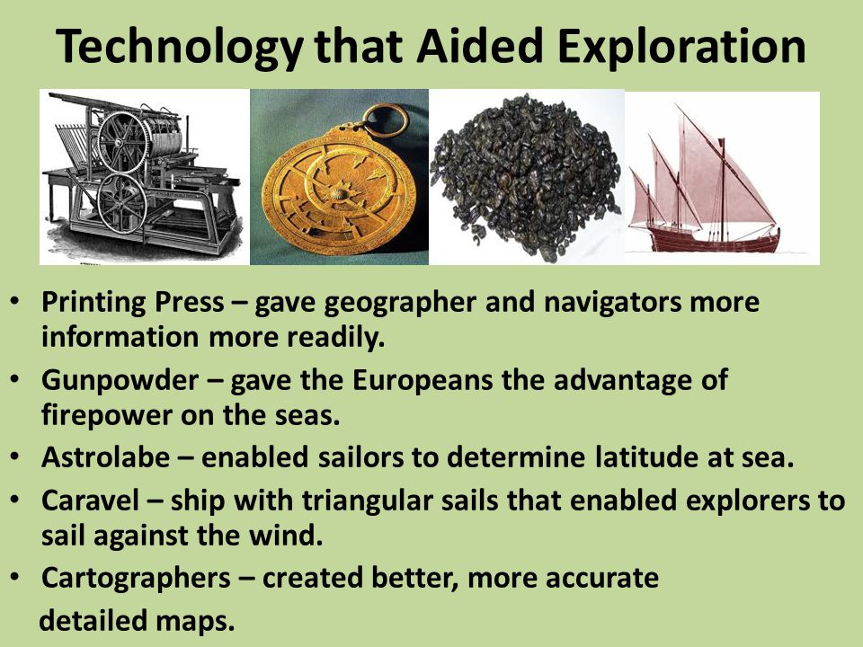 Technology that Aided Exploration