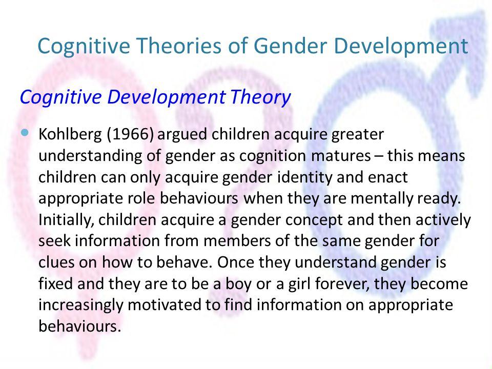 cognitive approach to gender Children's gender-based reasoning about toys  of gender-based reasoning in cognitive theories of gender and on children's play  cognitive approach, .