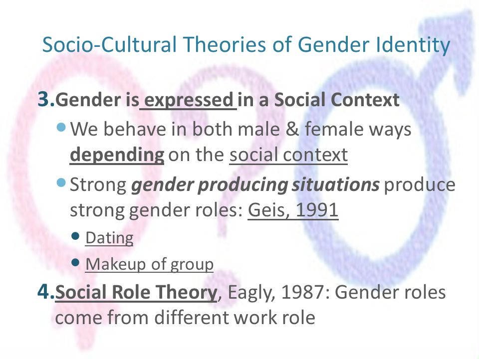 Gender stereotype creation of cultural gender