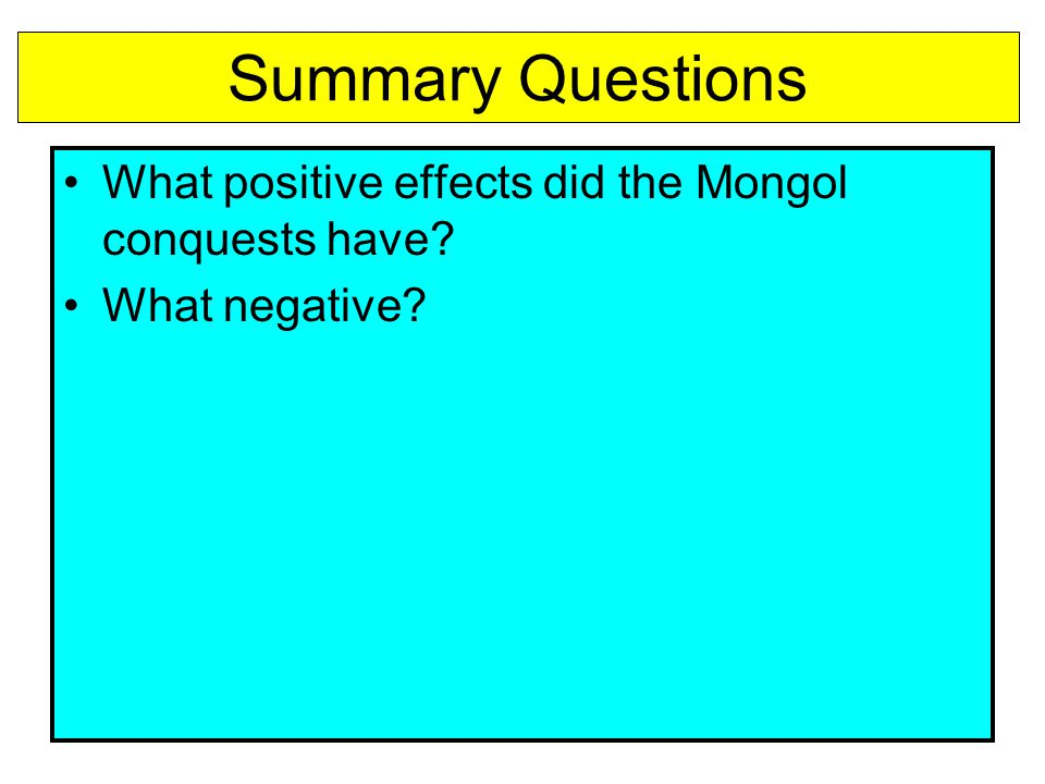 is the influence of the mongols on eurasia positive or negative The most important effects that the mongols had on europe and asia were  how did the mongols affect europe and asia  what influences did the mongols.