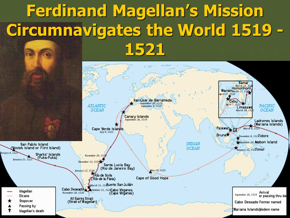 Ferdinand Magellan's Mission Circumnavigates the World