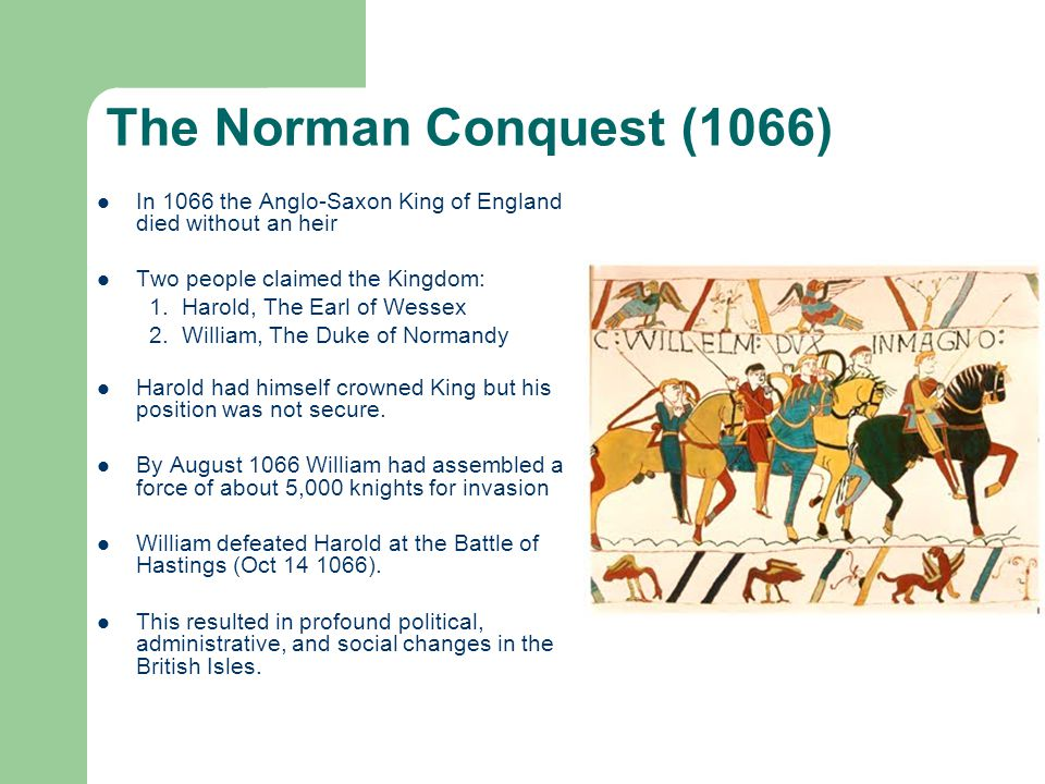 1066 the norman conquest of england essay The norman conquest, 1066 in medieval english literature back next  we typically think of england as being a fancy-pants font of high culture after all, british.