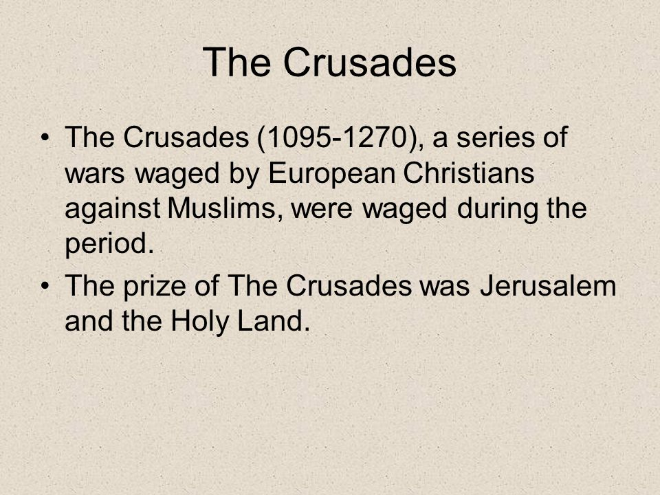 the crusaders were europes version of holy wars during the middle ages The crusades is a holy warthe crusades were a series of holy wars launched by the christian states of europe against the saracens the term 'saracen' was the word used to describe a muslim during the time of the crusades ( ) why did christians and.