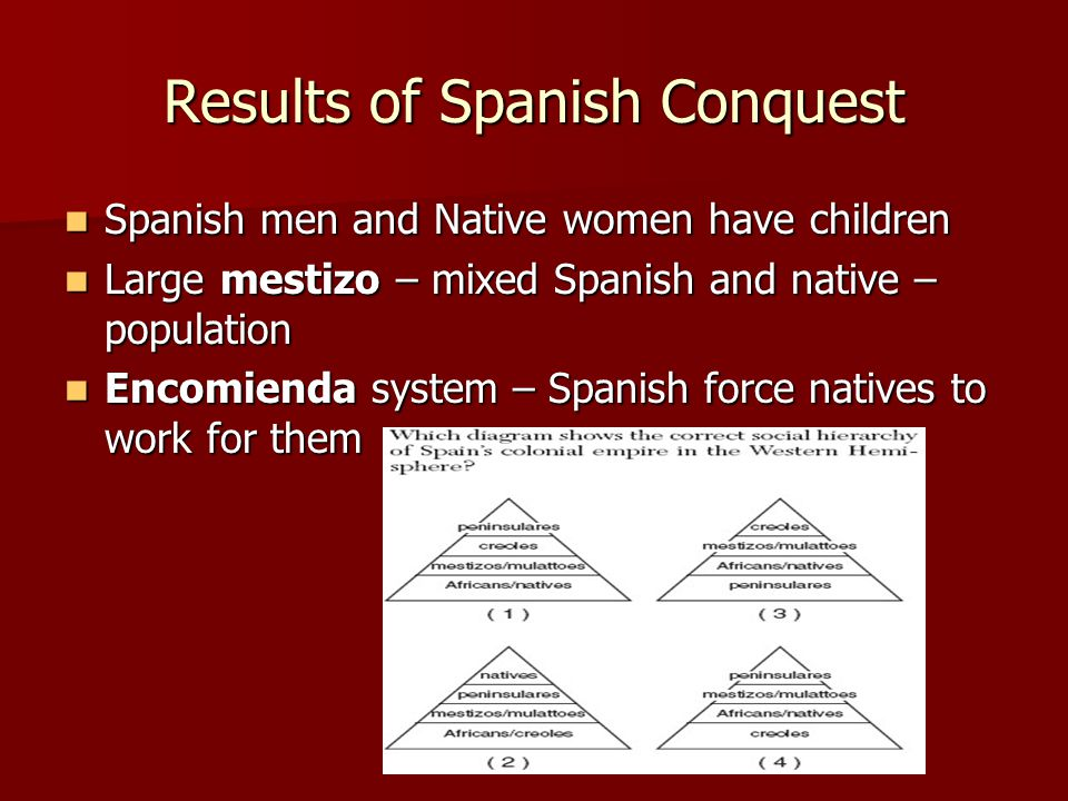 Results of Spanish Conquest