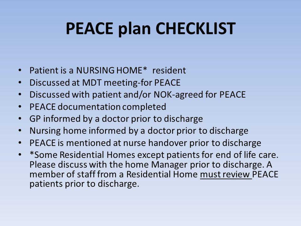 how to choose a nursing home checklist