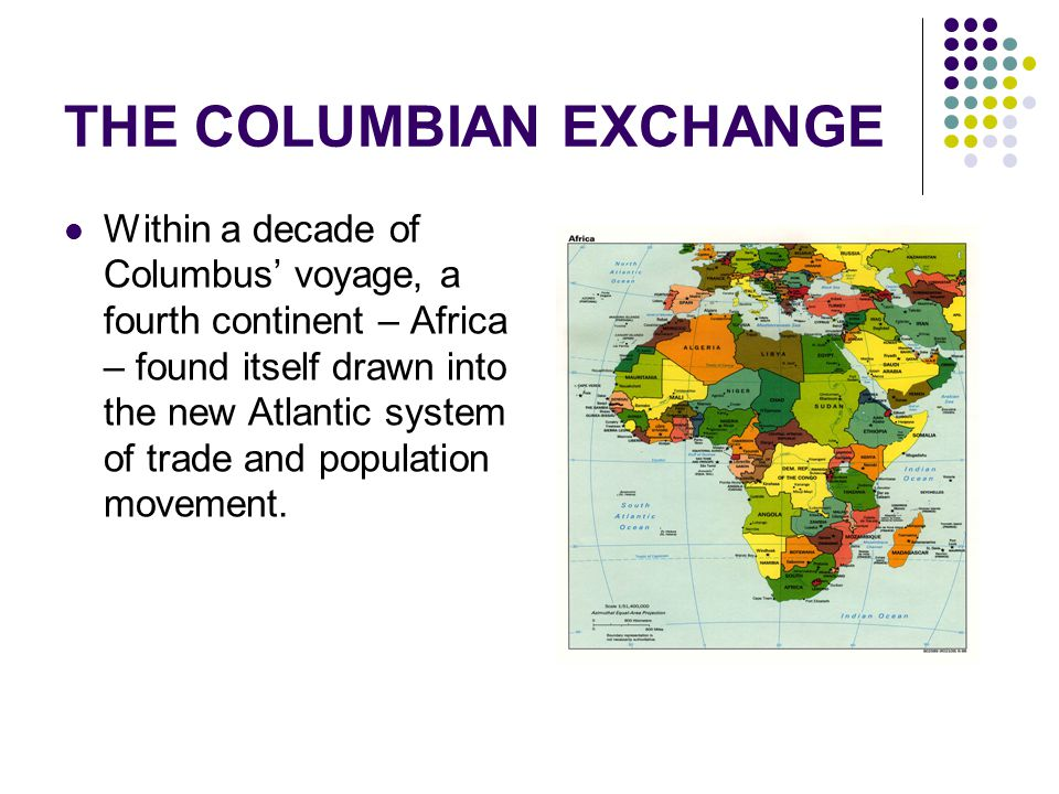 columbian exchange chocolate and its interaction The columbian exchange was an era in which agricultural products and  in  1492 is considered the start of the era, and as a result of the interaction,   chocolate also made its way from the americas and became quite popular in  europe.