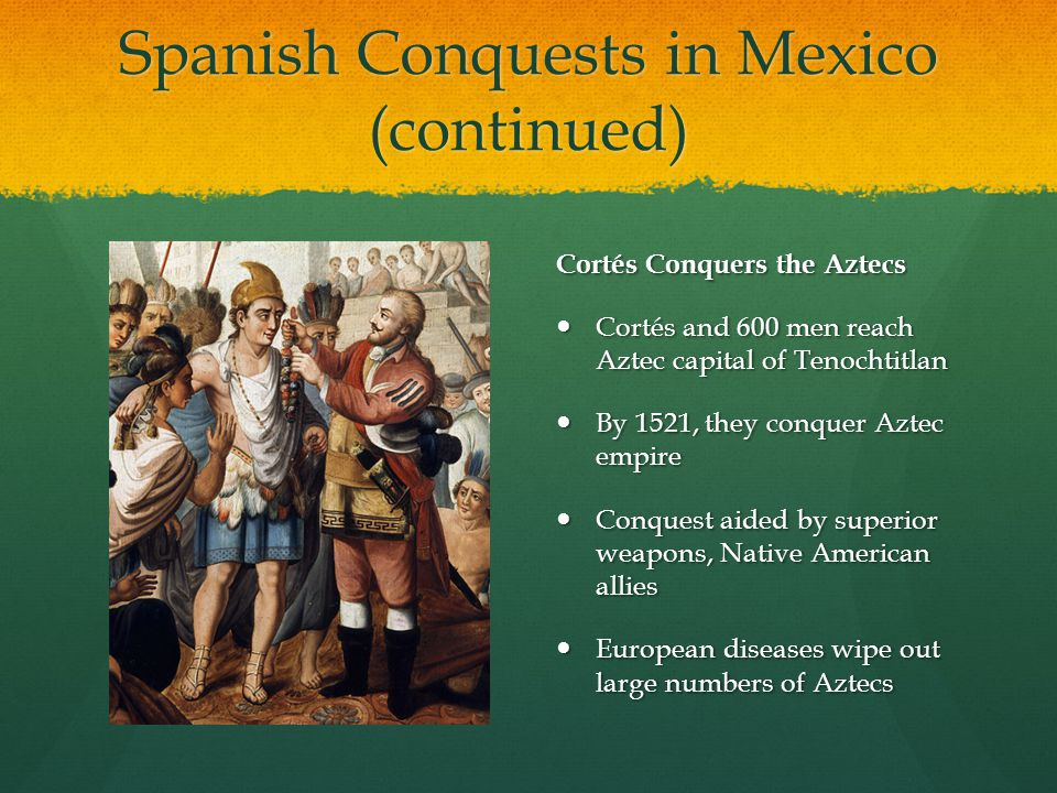 spanish conquest of the aztec empire essay Reasons to hernan cortes success in the spanish conquest of the aztec empire different events led to cortes gaining the upper hand in the spanish conquest of the aztec empire.